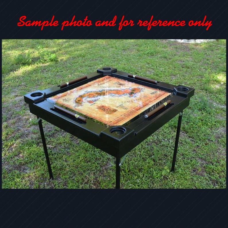 Woodenwood dominoesdomino tablemesa-custom made-Florida Gators Made in USA