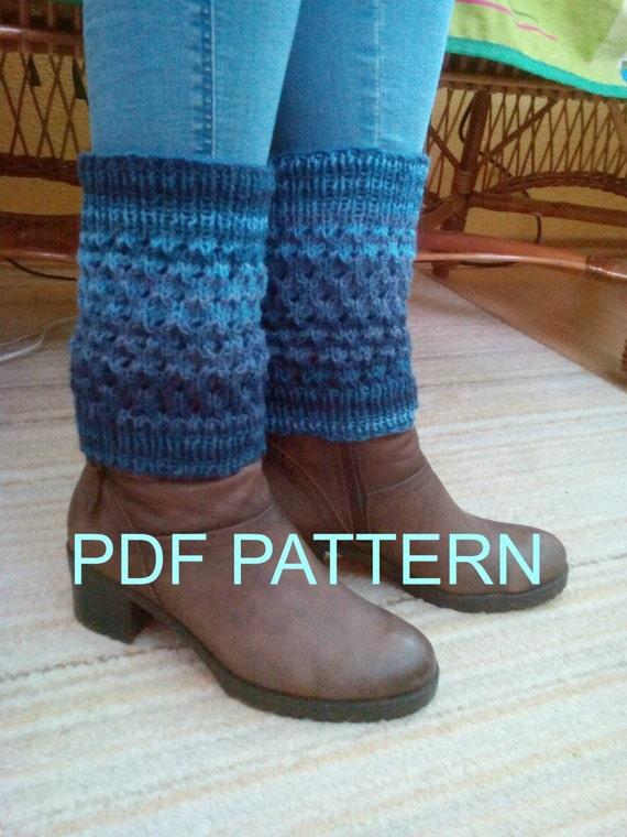 Leg Warmers Pattern Pdf Knit Ankle Warmers Knitted Boot Etsy