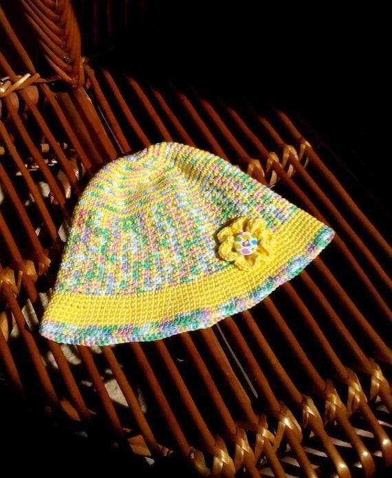 Bunte Häkeln Kinder Sonnen Hut Kinder Häkeln Baumwolle Häkeln Etsy