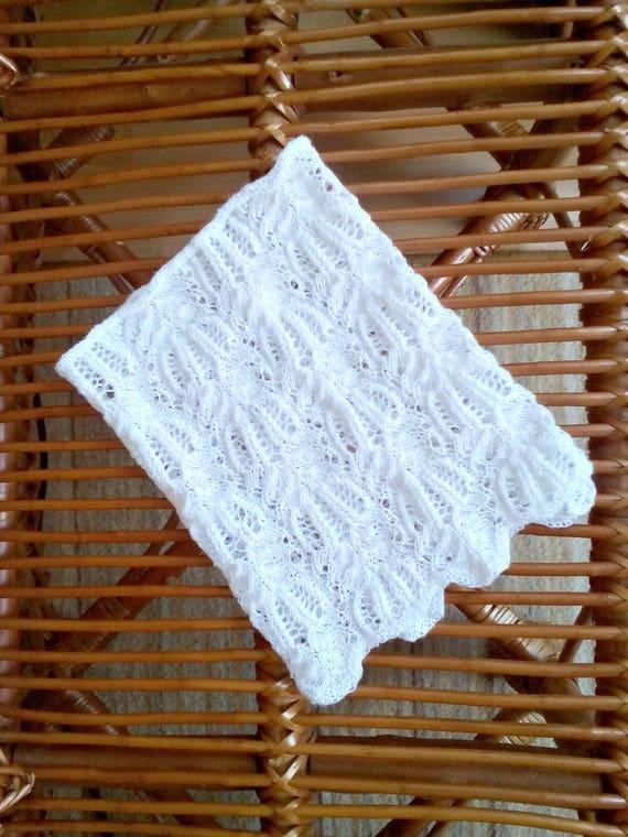 Blanc En Tricot Echarpe Enfant En Bas âge De Dentelle Col De Bébé En Tricot Blanc Les Filles Lacy Infini écharpe Les Filles Bébé Blanc Col Cache