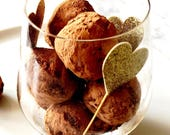 Chocolate Truffles Organic Raw Vegan Paleo Keto Option 10 Truffles