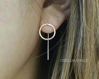 Circle Earrings | simple drop earrings, simple silver circle earrings, simple gold earrings, Minimalist Earrings, gold round earrings, hoop