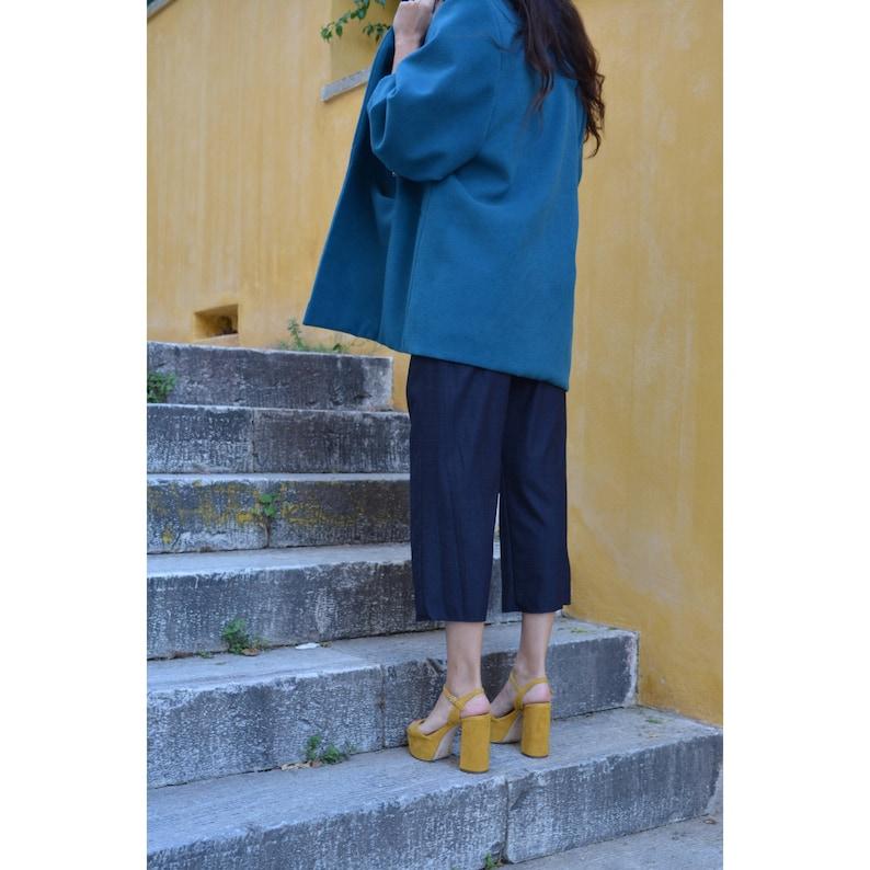 EVELYN pants // high waisted pleated pants // wool pants image 0