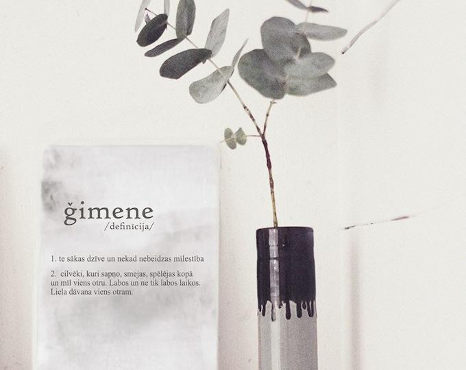 ĢIMENE /definīcija/