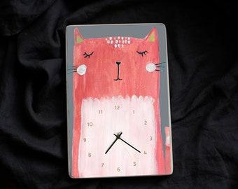 Pulkstenis Bērniem ar rozā kaķīti