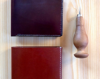 Leather wallets men. card-collection. cartera . Veg tanned. Leather card holder. Wallet. Billetero-tarjetero. Clasic. Sewing by hand.