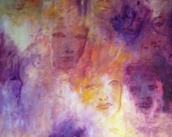 """Acrylic painting - painting on canvas: """"Characters II""""."""