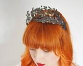 Boho Garland, Festival Bride, Fairy Wedding Tiara, Myrtle Headpiece, Victorian Tiara, Fairy Tiara, Bohemian Jewelry, Art Deco Wedding
