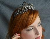 Bridal Tiara with matching Corsage, antique