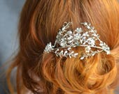 Wedding Tiara, Tiara Vintage Bridal, German Myrtle Headpiece, Victorian Bride, Boho Tiara, Antique Boutonniere,  Groom Corsage