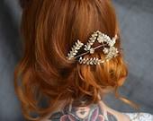 Silver Myrtle Tiara, Boho Bride Accessory, Vintage Headdress, Dainty Headpiece, silver wedding, antique jewelry, art deco bride