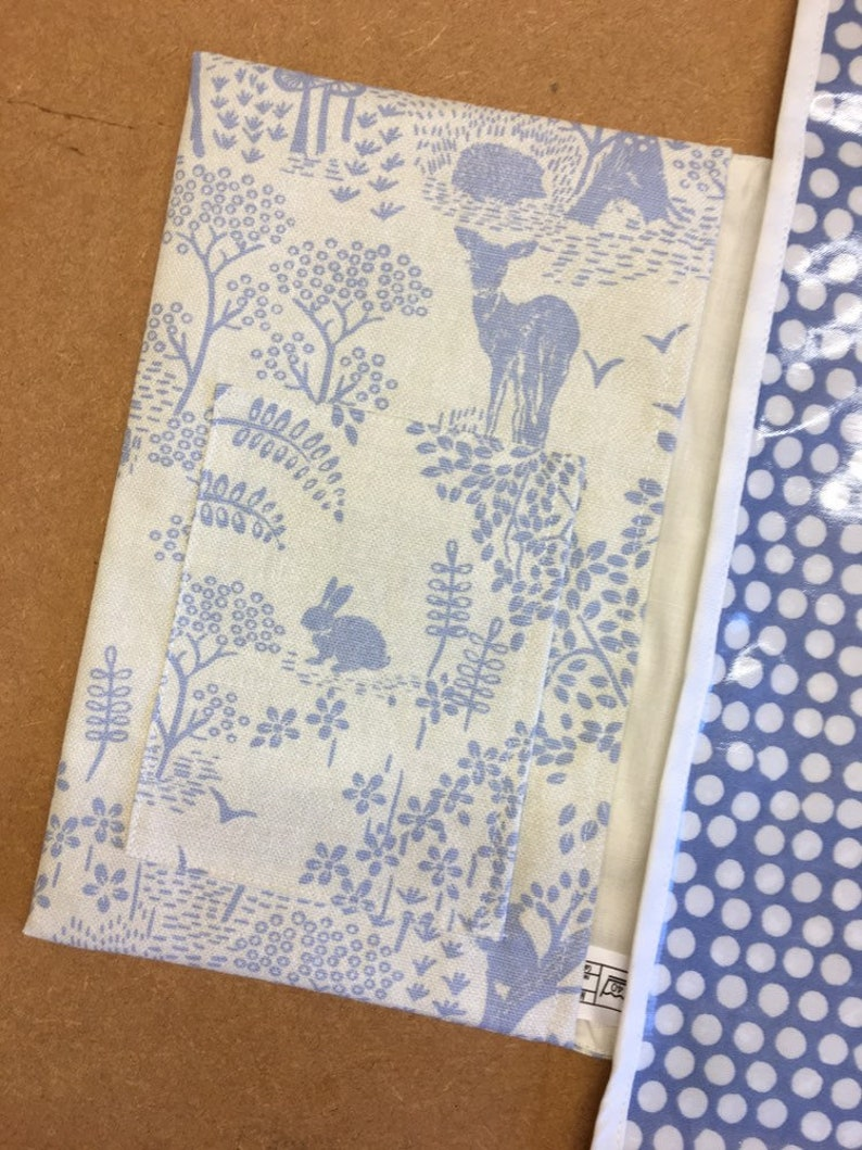 nappy holder Blue forest changing mat with pockets diaper bag
