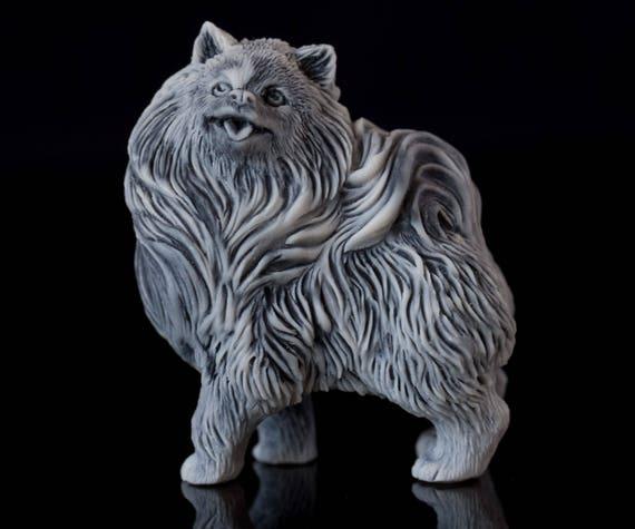 Pomeranian Spitz Dog Figurine Animal Handmade Eskimo Dog Etsy