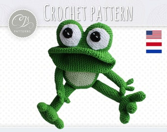 Amigurumi Pattern, Frog, Stuffed Animal, Crochet Pattern