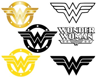 graphic regarding Wonder Woman Printable Logo identify Question girl symbol Etsy