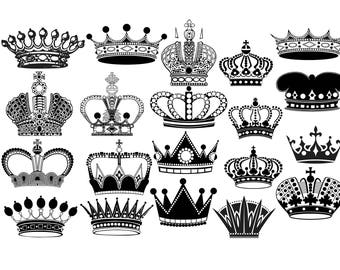 King crown etsy crown silhouette crown clipart royal crown clip art king crown queen crown princess crown crown svg png eps thecheapjerseys Image collections