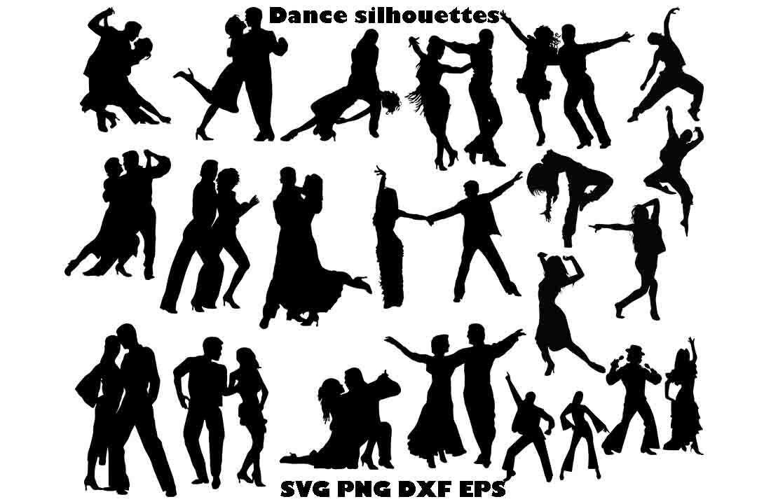 Tanz-Silhouette Tanz Clipart Tanzpaar SVG Tanz Vektor | Etsy