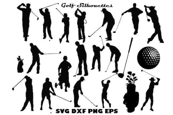 Golf Silhouette Golf Clip Art Sports Illustration Golf Svg Etsy