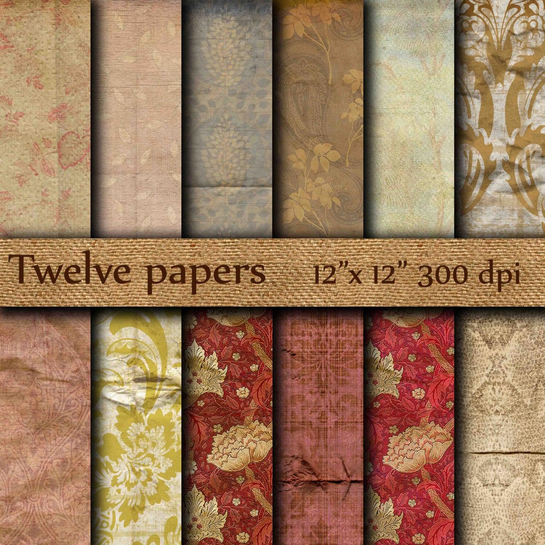 vintage digital papier: alte tapete zerknittert | etsy