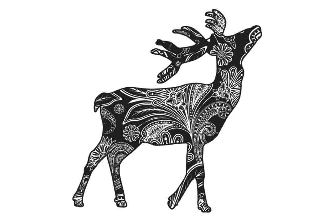 Mandala Deer Svg Zentagle Deer Svg Deer Clipart Deer Etsy
