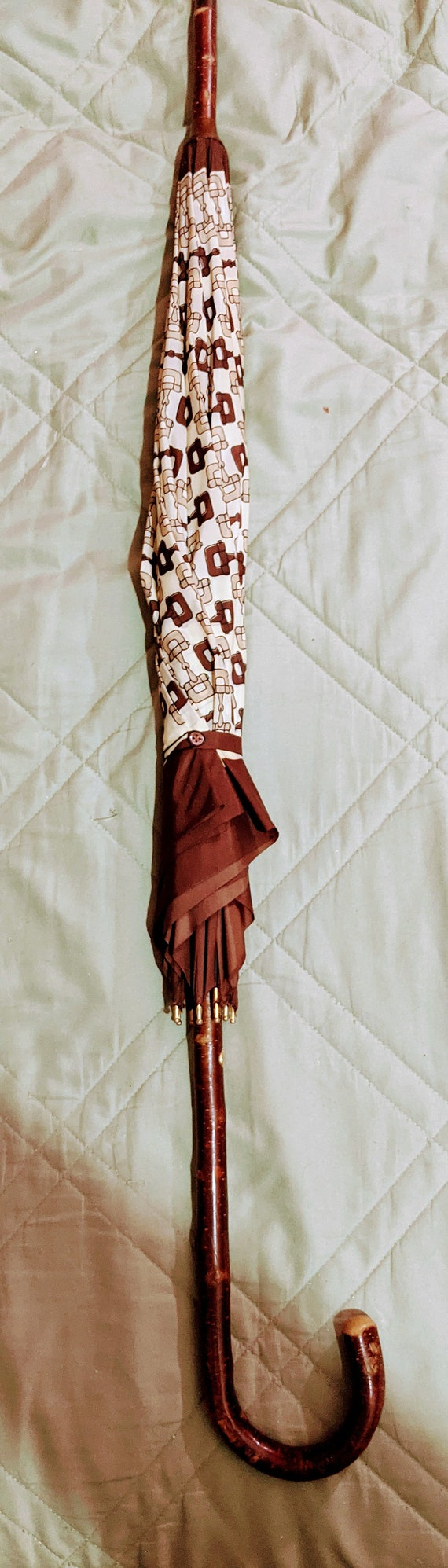 Vintage 1970's Authentic Gucci Horsebit Umbrella - image 1