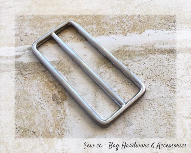 Brushed Nickel Tri-Glide Slider - 50mm Sliders - 2