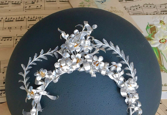 Krone Papier Hochzeit Vintage Papier Diadem Braut Tiara Etsy