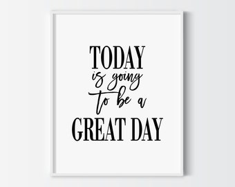 A Great Day Print Etsy