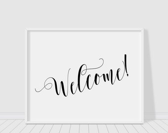 image about Printable Welcome Sign identified as Welcome printable Etsy