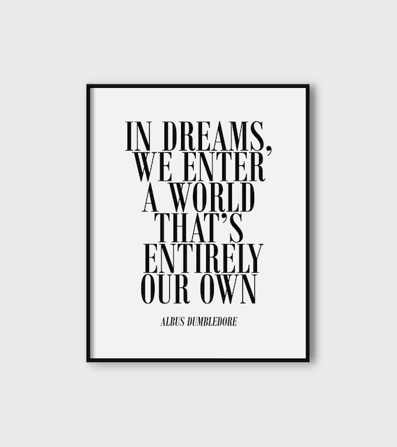 ähnliche Artikel Wie In Dreams We Enter A World Thats Entirely Our