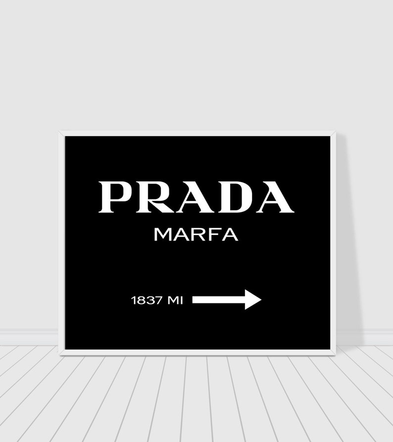 2992d1e997e78 Prada Marfa print black version, Gossip girl, fashion and beauty print,  chic print, wall decor, typography print poster, instant download