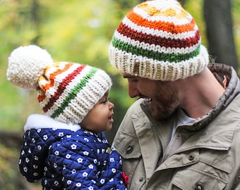 6e2be41fa23b07 Kids slouch hat mother daughter look family look mom and me beanie matching  winter hats Mommy and me hats Daddy and daughter matching