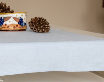 LINEN TABLE RUNNER  Light blue (Pale blue)  Washed 100% linen handmade linen table runner