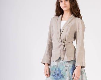 LINEN JACKET Not-dyed, natural linen color Linen Blazer  Linen Jacket  Elegant garment 100% Linen fabric