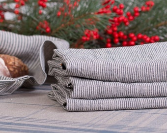 SET of 6 LINEN NAPKINS  Pure linen bulk napkins