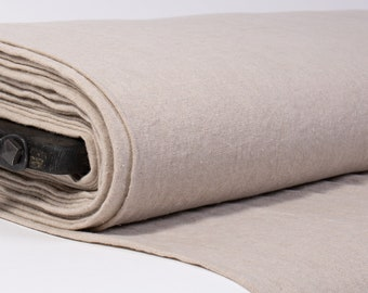 Natural Linen fabric.  Pure 100% linen fabric  medium weight, washed, soften, ecologic, certified. For home textile, clothes,