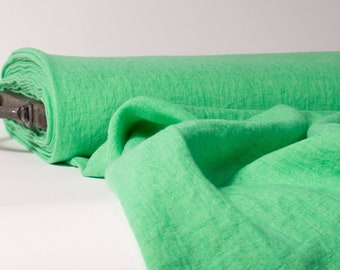 Pure 100% linen fabric Paris Green 170gsm Washed linen fabric for clothes: dress, tunics, skirts, home textile- curtains, decorative cover