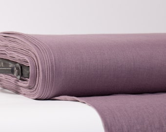 Pure 100% linen fabric Dirty purple. 200 gsm medium weight  linen fabric washed softened.  Linen fabric by yard. linen fabric by the meter