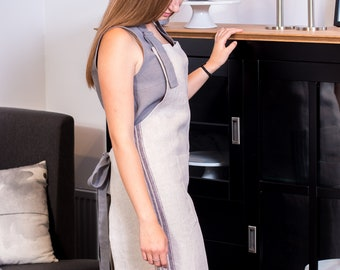 Linen rustic apron, if want to look pretty and stylish, even in the kitchen. Linen aprons for women with pocket