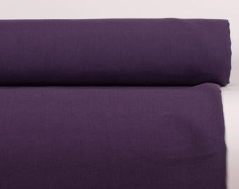 LINEN FABRIC Eggplant 210gsm medium weight  stonewashed softened 100% pure linen fabric