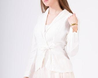 LINEN JACKET color Off-white Linen Blazer  Linen Jacket  Elegant garment 100% Linen fabric
