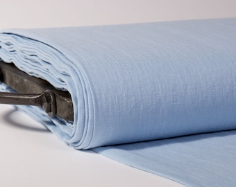 LINEN FABRIC medium weight Light blue, pale blue washed pure 100% linen fabric  Fashion fabric linen fabric by the yard