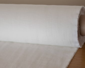 Linen fabric Off White.  Pure 100% linen fabric  light weight, washed, soften, ecologic, certified.  For clothes,  curtains,