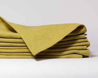 Linen napkins set of 12, Washed handmade linen napkins