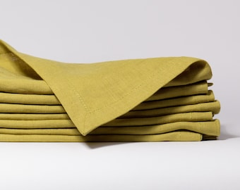 Pure 100 % Linen Napkin, Wedding table napkins, soft linen table cloth, linen wedding napkins, linen dinner napkins, kitchen table napkin