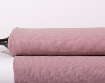 Pure 100% Linen Waffle Pique fabric Dark Old Pink Wide Medium weight Washed Organic Eco friendly Linen fabric by the yards, by the meters