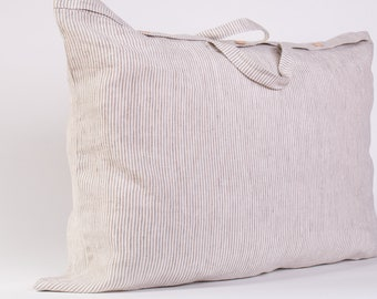 Breathable 100% Linen Canvas Soft Storage Bag with Handles Fastened with buttons or a zipper Organic Storage Bag Standard shipping via FedEx