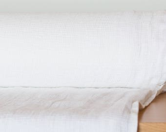 Pure 100% linen fabric,  Off white, medium weight Waffle pattern,  washed and softened. For towels, bathrobes.