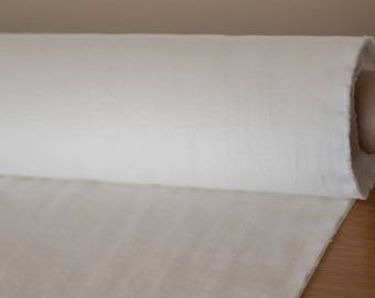 Pure 100% linen 200gsm off-white, wash and soften with organic softeners. Fashion Fabric usually for clothing, home textile