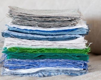FABRIC SAMPLES. Linen fabrics samples by the yard. Solid colors